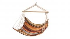 Cama de rede de pendurar para dormir e relaxar no jardim ou em campismo. Tecido de poli-algodão é confortável e resistente. Inclui saco de transporte.